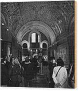 tourists inside the Gedenkhalle memorial hall of Kaiser Wilhelm Gednachtniskirche Wood Print