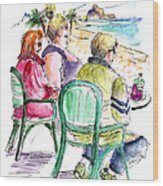 Tourists On The Costa Blanca In Spain Wood Print