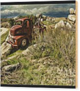 Tow Truck No Where To Go Wood Print