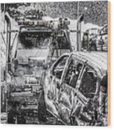 Tow Truck Towing Demolition Car Wood Print