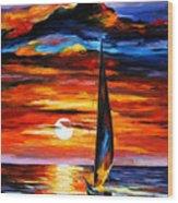 Towards The Sun - Palette Knife Oil Painting On Canvas By Leonid Afremov Wood Print