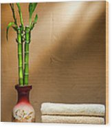 Towels And Bamboo Wood Print