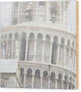 Tower And Fog Wood Print