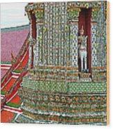 Tower At Temple Of The Dawn-wat Arun In Bangkok-thailand Wood Print
