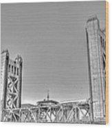 Tower Bridge 3 Sacramento Wood Print