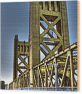 Tower Bridge 4 Sacramento Wood Print
