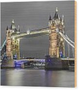 Tower Bridge Color Mix Wood Print
