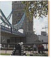 Tower Bridge In The City Of London Wood Print