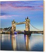 Tower Bridge Located In London Wood Print