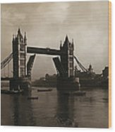 Tower Bridge London 1906 Wood Print