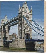 Tower Bridge London Wood Print by Heidi Hermes
