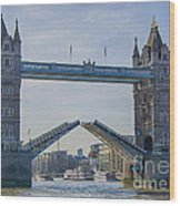Tower Bridge Opened Wood Print