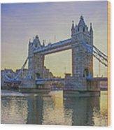 Tower Bridge Sunrise Wood Print