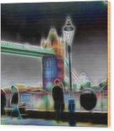 Tower Bridge Surrealism Wood Print