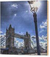 Tower Bridge View Wood Print