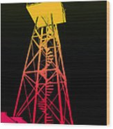Tower Duty Alcatraz Wood Print