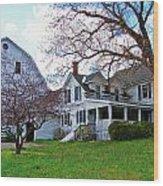 Tower Farm Washburn Maine Wood Print