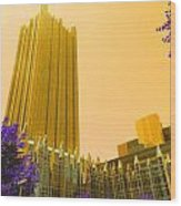 Tower Gold Wood Print