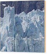Tower In Margerie Glacier Wood Print