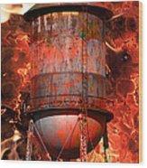 Tower Inferno Wood Print