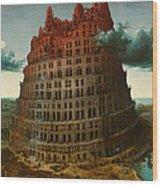 Tower Of Bable Wood Print