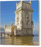 Tower Of Belem Wood Print