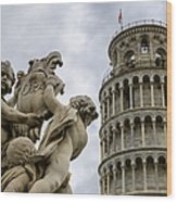 Tower Of Pisa Wood Print