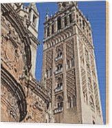 Tower Of The Seville Cathedral Wood Print