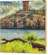 Tower On The Bluff Wood Print