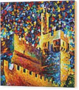 Tower - Palette Knife Oil Painting On Canvas By Leonid Afremov Wood Print