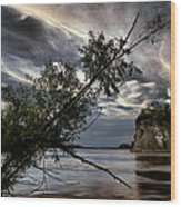 Tower Rock In The Mississippi River Wood Print