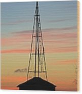 Tower Sunrise Wood Print