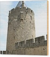 Tower Town Wall - Carcassonne Wood Print