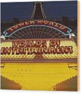Tower World . Worlds Of Entertainment Wood Print
