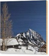 Towering Above Crested Butte Wood Print