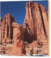 Towering Above The Hoodoo Wood Print