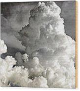 Towering Clouds Wood Print