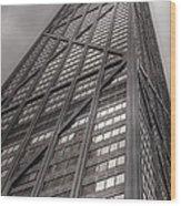 Towering John Handcock Building Wood Print