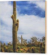 Towering Saguaro Wood Print
