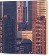 Towers And Sailboat Wood Print