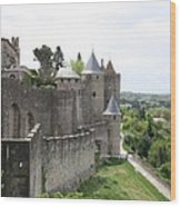 Towers And Townwall  - Carcassonne Wood Print