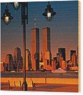 Towers Framed Wood Print