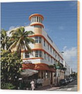 Towers Hotel - Miami Wood Print