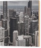 Towers Of Chicago Wood Print