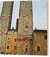 Towers Of San Gimignano Wood Print
