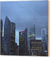 Towers Of Singapore Wood Print