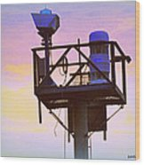 Towers Of The Shore Pt Pleasant Beach Wood Print