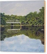 Town Bridge Wood Print