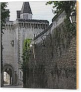 Town Gate - Loches - France Wood Print