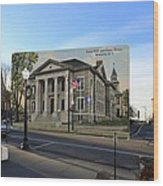 Town Hall And Court House In Westerly Rhode Island Wood Print